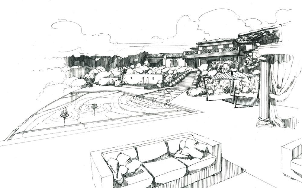 dessin-jardin-piscine-parc-saint-tropez