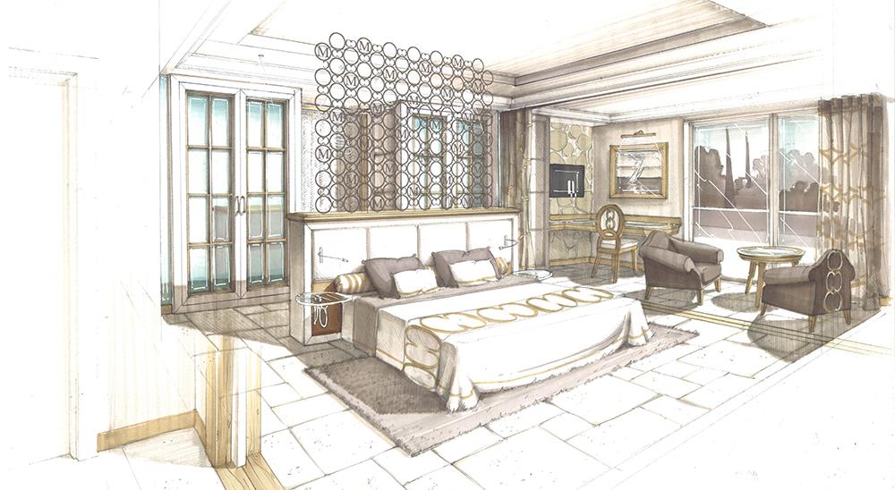 dessin-projet-architecture-decorationr-hotel-messardiere