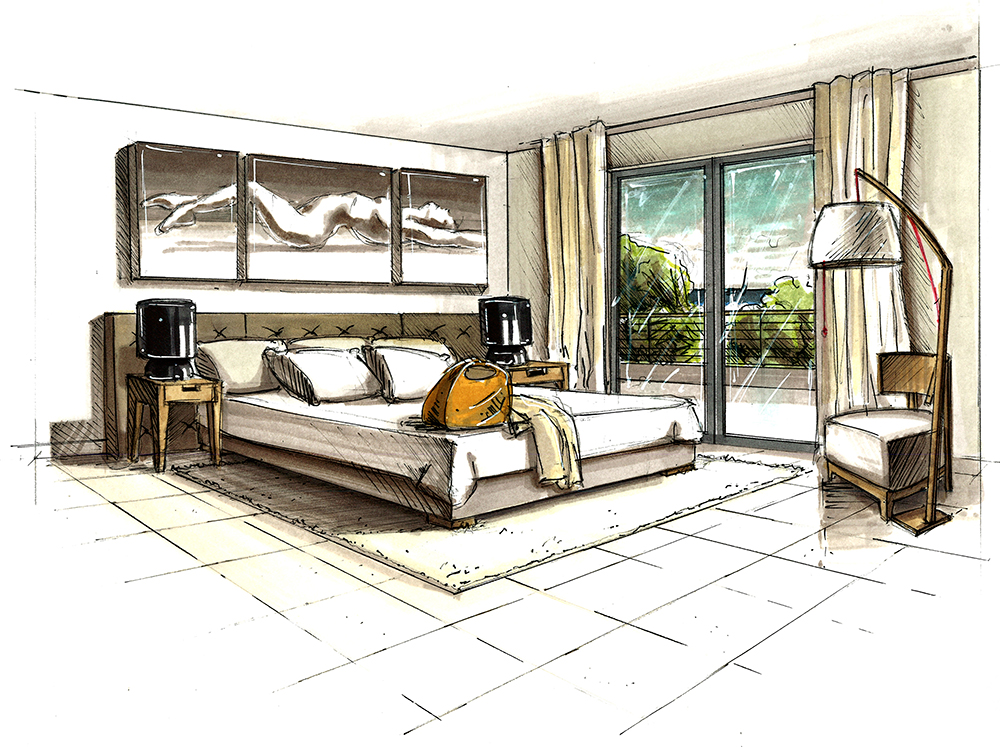 projet-architecture-interieure-decoration-chambre-dessin