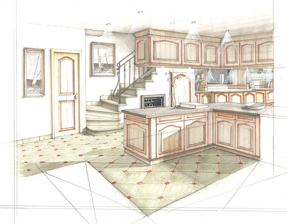 projet-architecture-interieure-decoration-dessin-cuisine
