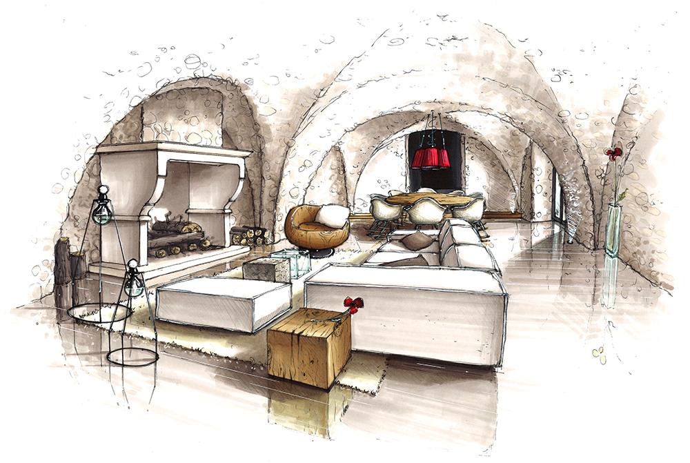 projet-architecture-interieure-decoration-dessin-perspective