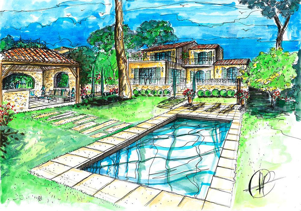 projet-architecture-paysagisme-piscine-jardin-dessin