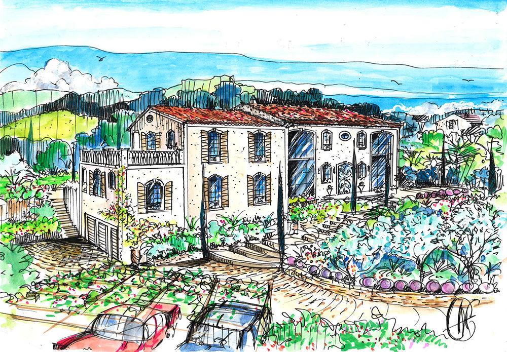 projet-architecture-paysagisme-villa-jardin-dessin